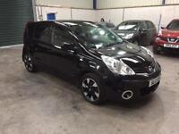 12 Reg Nissan note n-tec + 1.5 dci mett black 1 owner low miles guaranteed cheapest in country
