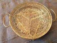 Crystal Effect Serving Dish