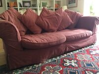 Large Dusty Pink Sofa Bed