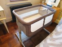Chicco Next2me Dream Crib - Graphite (PICK UP ONLY - N16)