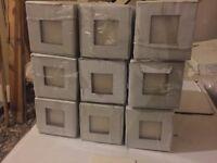 Cream tiles 100mm x 100mm, 9 boxes 2.25sq meters.