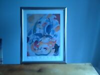 WASSILY KANDINSKY FRAMED PICTURE IN PERFECT/SPOTLESS COND. COST £175.00