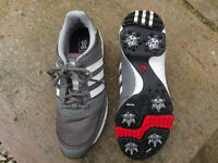 Grey Adidas 'Traxion' Men's Golf Shoes UK Size 9