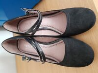 Next black court shoes size 6 as new