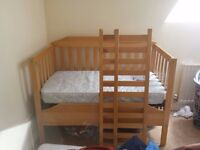 Wooden Cot-bed for sale with mattress.