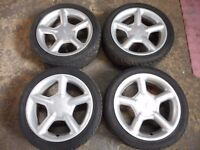 "FORD FIESTA ZETEC ST, PUMA, KA 16"" inch ALLOY WHEELS WITH TYRES"