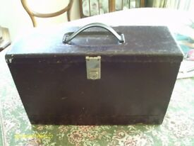 VINTAGE METAL BOX FOR FILES 42CM X 14CM X 27CM