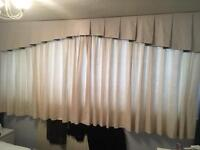 Fully lined cream curtains