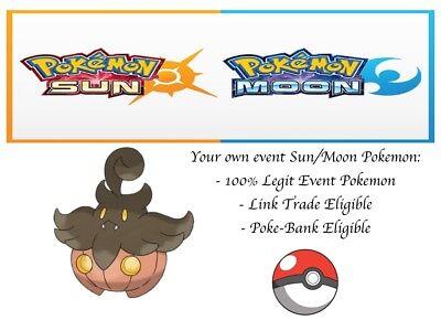 Pokemon Ultra Sun and Moon Halloween Pumpkaboo Event Pokemon - Sun And Moon Halloween
