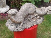 Vintage Garden Stone Otter - Lovely Detail