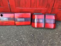 passat b3 estate all red rear lights