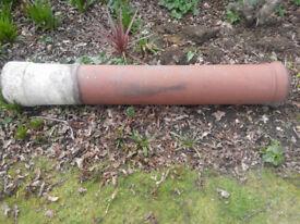 Victorian tall clay chimney pot