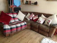 Corner sofa and one setter recliner