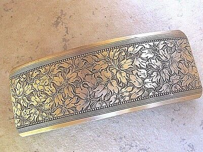 Large Antiqued  Brass Barrette for Thick Hair Genuine French Clip 018 NEW USA