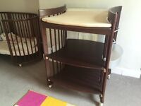 STOKKE Care baby changing table, walnut colour, in great shape, SW London