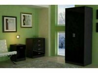 🔵💖🔴EXCLUSIVE OFFER ALINA🔵💖🔴2 DOOR WARDROBE & BEDROOM SET- GOOD QUALITY IN A VERY CHEAP PRICE