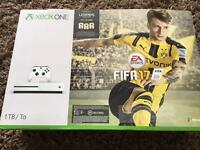 Xbox one s 1Tb with 4 games