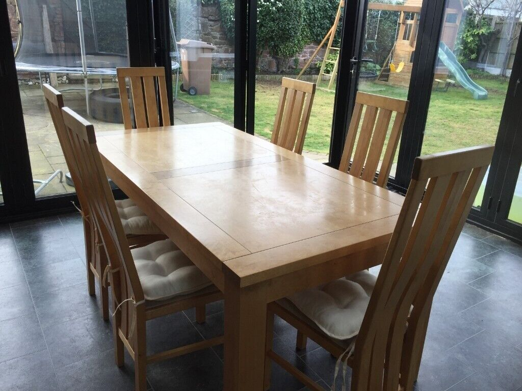 Used Dining Table 8 Chairs Sideboard And Seat Cushions
