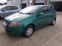 2004 daewoo kalos 1.4 sx 16v,5 door,11 months mot