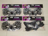 HALLOWEEN MASKS x 4 - BRAND NEW IN PACKETS