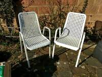 2 metal framed patio chairs. FREE local delivery.