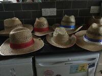 Straw hats x6