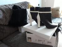 Desinger high heeled boots, Hugo Boss