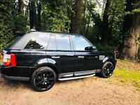 Range Rover Sport loads of features including twin DVD players and 8 months RAC warranty