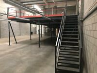 MEZZANINE FLOOR 12M X 7M WITH STAIRS DISMANTLED!( STORAGE , PALLET RACKING )