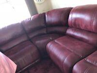 HARVEYS leather corner sofa LIKE NEW