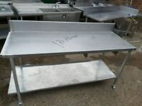 Commercial stainless steal table worktop kitchen table work bench 172X60X85 CM