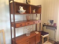 Attractive and useful 1970s shelving unit