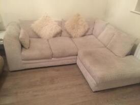 Small cream corner sofa