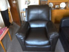 Recliner chair, electric,dark brown, good condition, sale due to bereavement