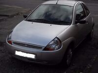 For Sale Ford KA, 3 Door 2003 Model, Silver, Low mileage 49,875 Miles , Long MOT