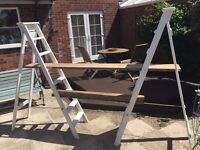 Wooden Step Ladders - Wedding, Shop display, shabby chic