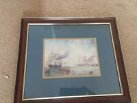 Framed Picture of a Ship