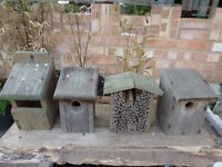 3 x BIRD NESTING BOXES + 1 BEE HOUSE..........ONLY £5