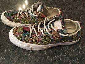 CONVERSE ALL STAR LIMITED EDITIONS AS NEW ONLY 19!!!SIZE 4 UK