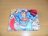 mens superman leather wallet