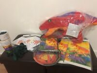 Children's dinosaur themed party bits