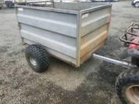 Quad atv logic livestock trailer farm tractor stables logs