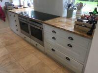 Entire Kitchen - Oak cabinets and granite tops