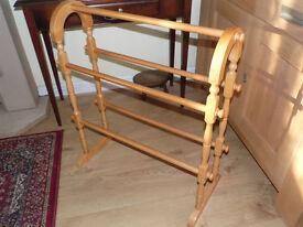 Lovely wooden towel rail