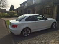 Bmw one series coupe white