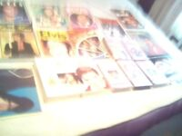 Elvis vhs tapes and books and magazines.