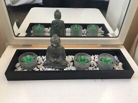 Buddha tea light tray