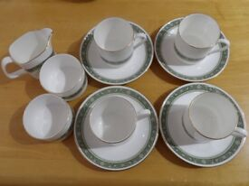 Royal Doulton Rondelay china-coffee set-coffee cups, saucers, milk and sugar