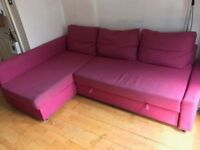 Sofa Bed FRIHETEN Ikea (Pink), Used