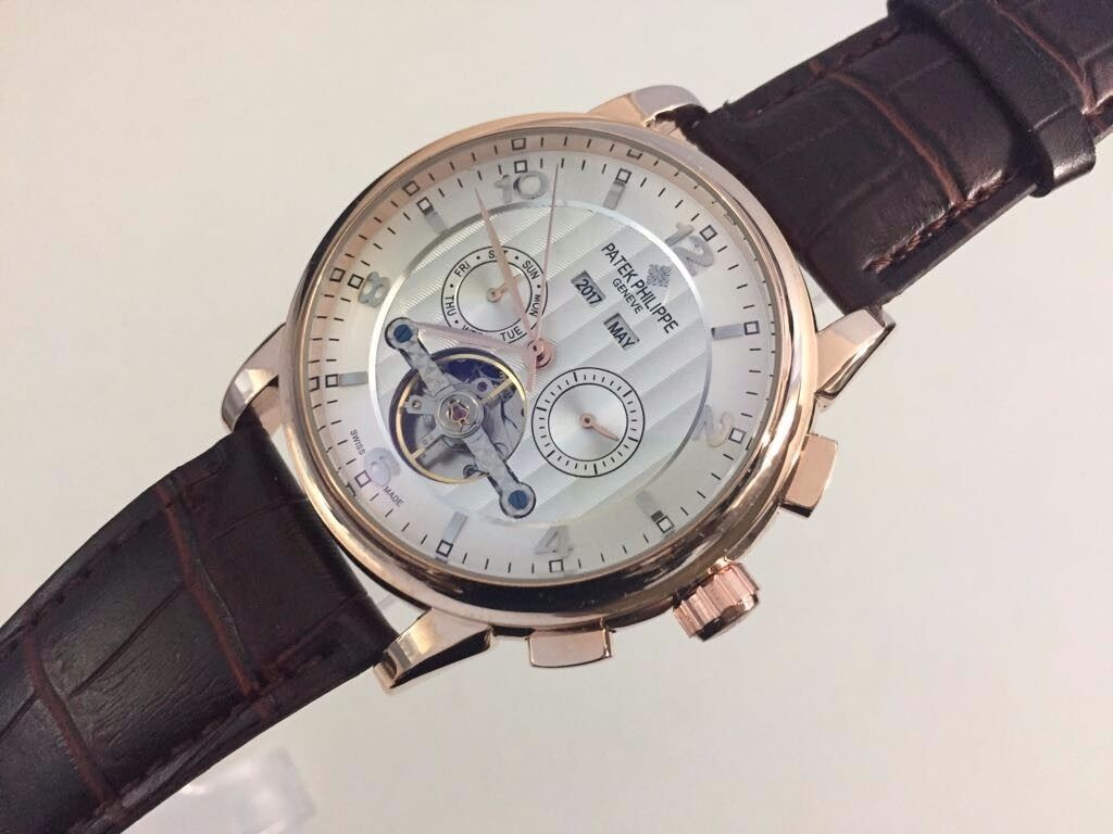 New patek philippe tourbillon rose gold case automatic watch see through back in east ham for Patek philippe tourbillon